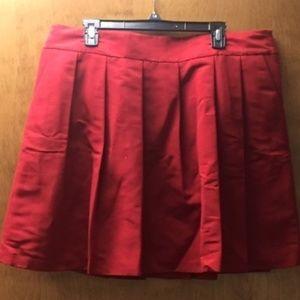 Ann Taylor Jacquard Pleated Skirt w/ Pockets NWT